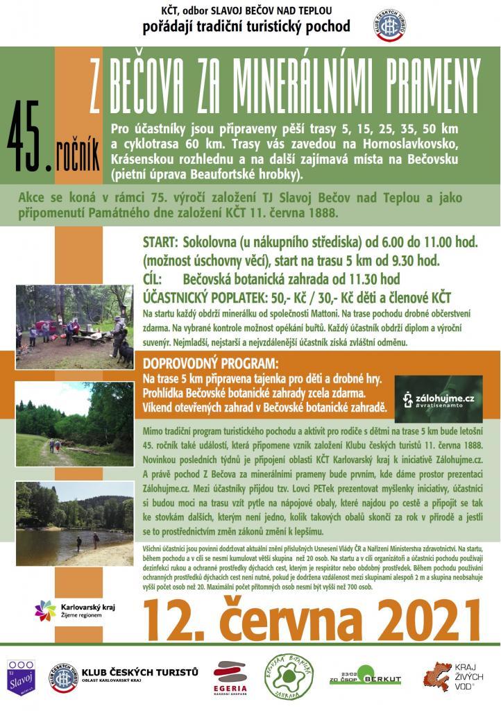 45.ročník turistického pochodu ZBečova zaminerálními prameny